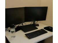 2x Dell Monitor Full HD 24'' - Dual screen - in WARRANTY - LCD - Ultra thin - Home office - Gaming