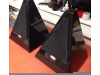 Mistral Pyramid Speakers Black Hi-Gloss Bookshelf Very Rare Glasgow why Bose Buy Better ?