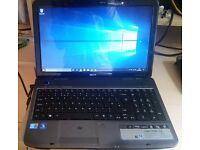 "Acer Aspire 5740 Laptop 15.6"" Intel Core i3 M330 2.13GHz 6GB RAM 230GB HDD Win 10 64bit"