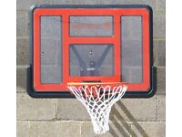 Bee-Ball ZY-020 Backboard and Flex Ring, Assembled for a photoshoot