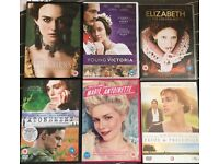 Bundle of dvds, history costume dramas, A-titles, excellent condition, as new