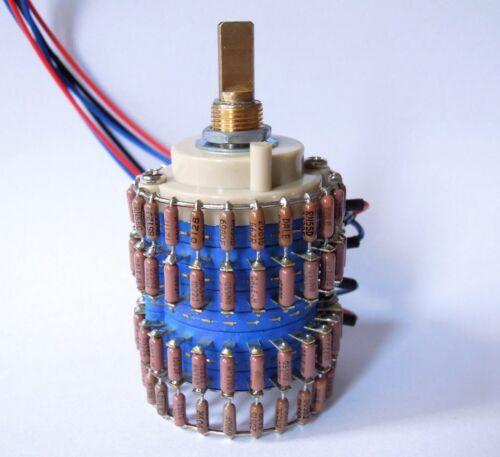 1pcs HIFI 24-Step Stereo Attenuator Potentiometer 10K 50K 100K dale  resistance