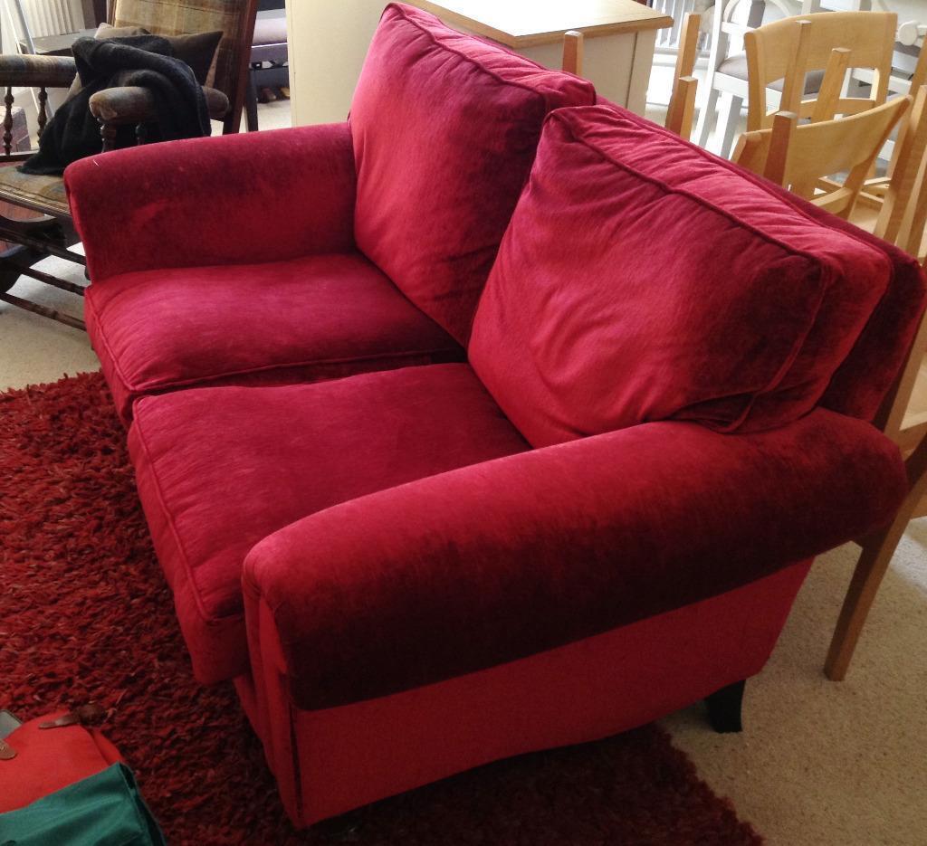 Laura Ashley Red Velvet Sofa in Barnet London Gumtree : 86 from www.gumtree.com size 1024 x 935 jpeg 103kB