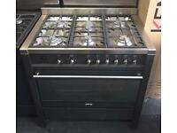 Smeg 90cm gas/electric range cooker