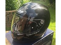Metallic black lazer motorcycle helmet size M, Gold ACU, new boxed