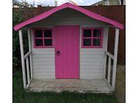 Wooden playhouse 6x6 inc verrander