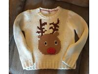 Next Reindear Christmas Jumper Size 11-12 Years