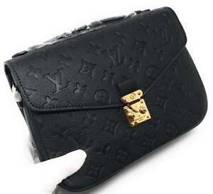 Louis Vuitton Metis Pochette Black Empreinte Leather ( More Styles  Available)