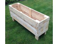 Large/Long Wooden Raised Garden Planter   Trough   Flower Box   Container   Hand Made