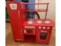Solid wooden play kitchen