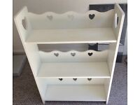 Kids heart bookcase from next