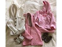 Girls Coats (12-18m)and Shoes (4 1/2 and 5)