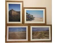 Beach Framed photos x 4 Wells & Holkham Norfolk