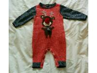 Christmas outfit, size 0-3 months