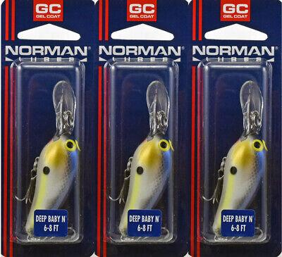 Norman Baby N NIP Made in USA Crankbait Gelcoat Professional Edge Chart//Green