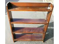 Stained oak open bookcase