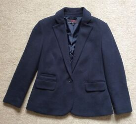 """Women's Jacket - Coat. Short & Fitted. Blue (Navy) Size 8 From """"New Look"""""""