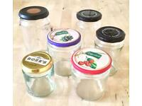 6 Glass Jars (various sizes)