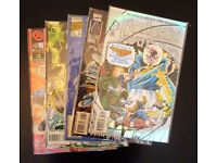 Grab bag of 5 collectible comic books. (Dr Doom/Fantastic 4/E.T.C)