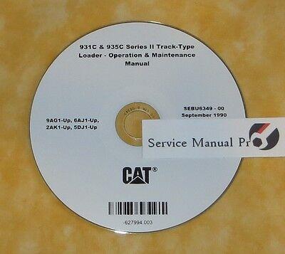 Sebu6349 Cat Caterpillar 931c 935c Track Loader Operation Maintenance Manual Cd.