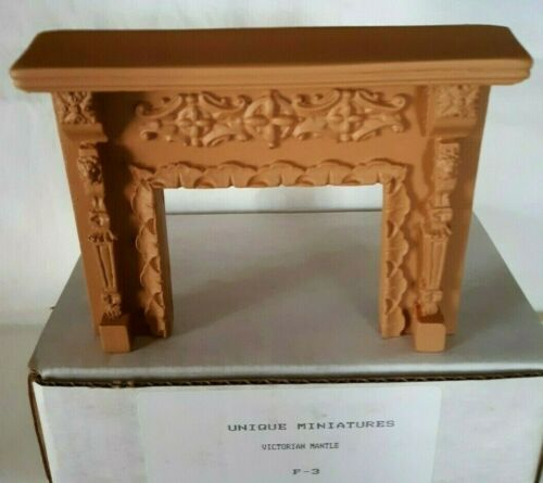 UNIQUE Miniatures Dollhouse Victorian Mantel Fireplace #F-3 (NOS)