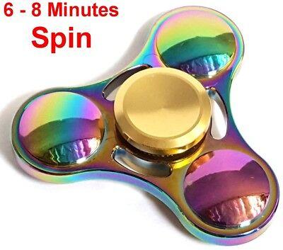 Rainbow Hand Spinner Fidget Ceramic Bearings Smooth Long Spin