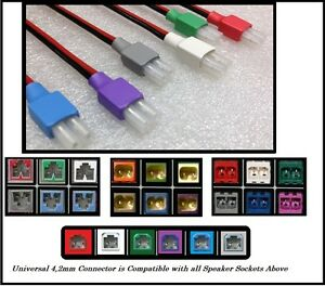 6x 4,2mm Home Theater Color Coded HT Speaker Connectors Fits Most Popular Brands