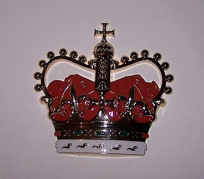 UK Britain English Royal Queen Crown Medal Mount Display Art Project Craft Award