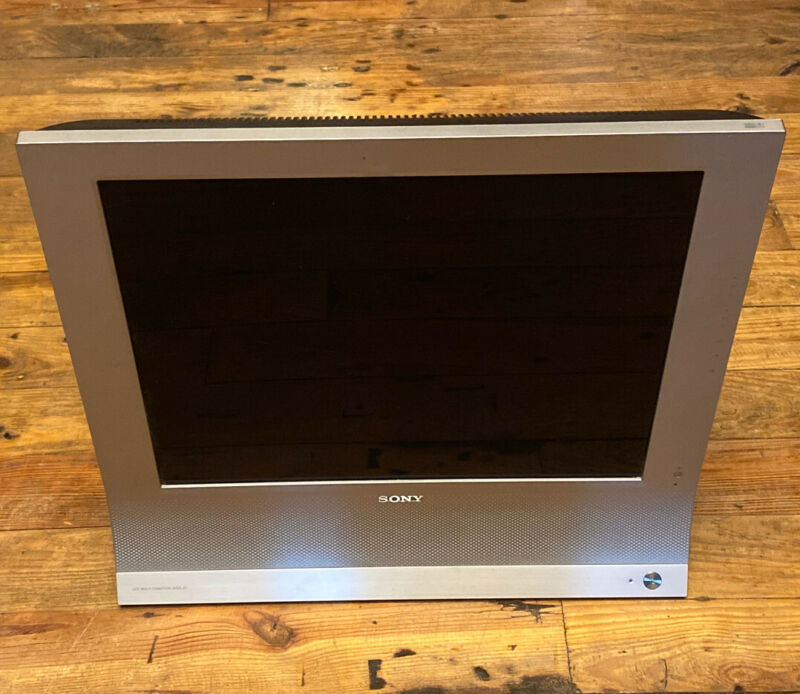 """Sony MFM-HT95 19"""" HDTV LCD TV/Monitor Display Tested & Powers On"""
