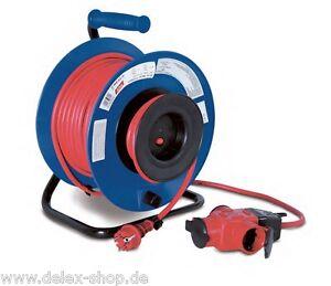30 meter kabeltrommel ip44 kabelrolle ger tekabeltrommel 3 fach stecker aussen ebay. Black Bedroom Furniture Sets. Home Design Ideas
