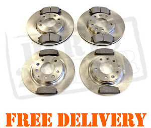 MAZDA 6 02-07 FRONT & REAR BRAKE DISCS AND PADS 2.0 2.0 Di 2.3