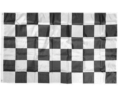 3X5 FT NASCAR BW Black White CHECKERED CHECKER FLAG RACING BANNER - Checker Flags