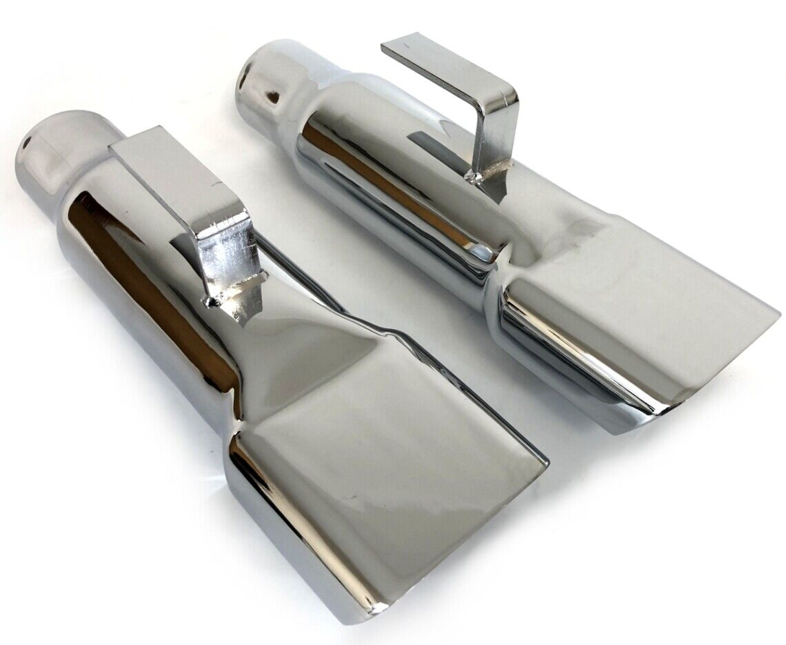 1968-70 Mopar Dodge Charger Chrome Exhaust Tips Extensions -Correct Size Weight
