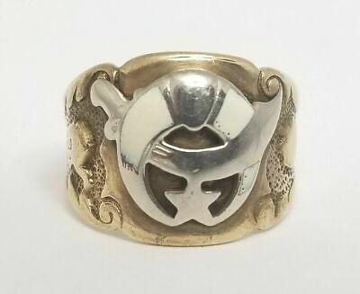 Vintage Antique 14k Yellow Gold MASONIC Mystic Shrine Ring Size - Masonic Shrine Ring