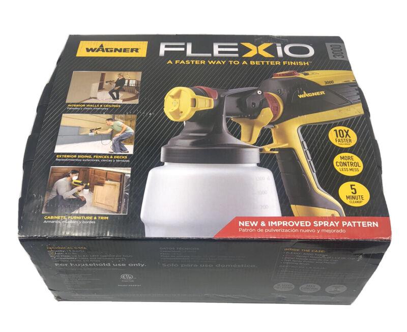 Wagner Flexio 3000 HVLP Paint Sprayer with Case Electric Indoor Outdoor Kit Blk