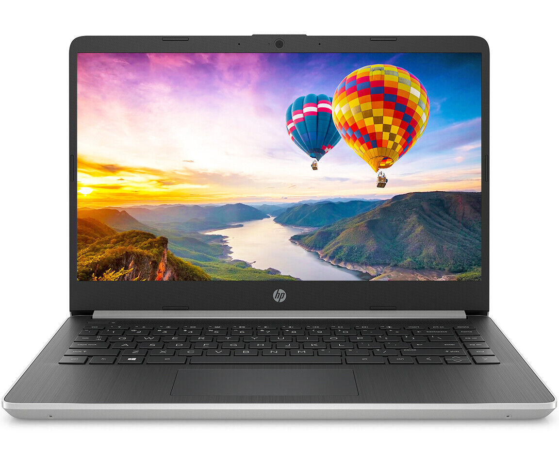 "NEW HP 14"" Intel Core i5-1035G4 3.70GHz 10th Gen 128GB SSD 4GB RAM Win 10 Silver"