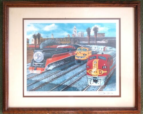 Signed Stanley Kline Print  - Union Station