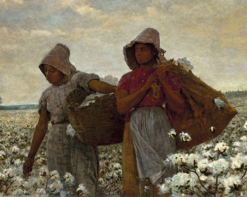 Cotton Pickers by W Homer - Oppression Slavery Black Girls Field 8x10 Print 0122