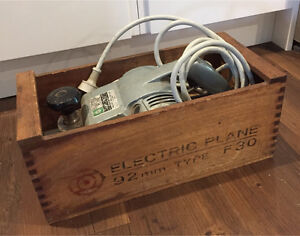 VERY OLD HITACHI ELECTRIC PLANE IN WOODEN CRATE BOX Ashmore Gold Coast City Preview