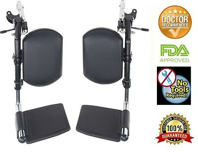 (Wheelchair Elevating Legrests with Padded Calf Pads 1 pair)
