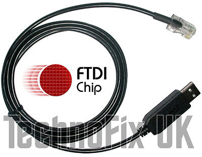 FTDI USB data cable for Current Cost EnviR power monitor/meter Windows 10...