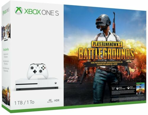Microsoft Xbox One S 1TB PLAYERUNKNOWN'S BATTLEGROUNDS Bundle with 4K Ultra HD Blu-ray White 234-00301