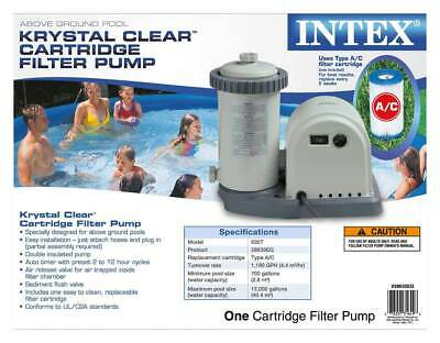 Intex 1500 GPH Easy Set Above Ground Swimming Pool Pump Filter System (Open Box)