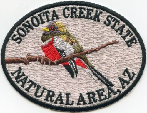 SONOITA CREEK STATE NATURAL AREA STATE PARK ARIZONA AZ tan red police PATCH