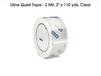 Uline Quiet Tape 2 Mil 2 X 110 Yds Clear