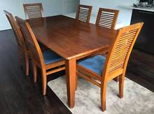 Wood Dining Table and Six Chairs Brighton East Bayside Area Preview