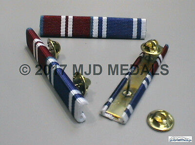 DIAMOND JUBILEE MEDAL + POLICE LONG SERVICE & GOOD CONDUCT MEDAL RIBBON BAR