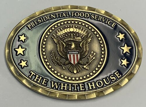 USN US Navy The White House Presidential Food Service Oval Challenge Coin