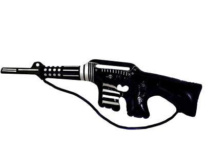 Groß Aufblasbar Maschine Pistole - Schwarz Armee Soldat - Aufblasbare Pistole