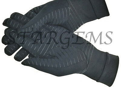 ARTHRITIS COPPER COMPRESSION GLOVES PAIN RELIEF HEALING AID HAND SUPPORT GRIP  ()